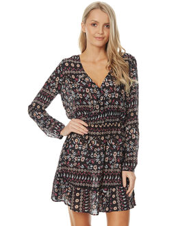 BLACKBIRD BORDER WOMENS CLOTHING O'NEILL DRESSES - 4021608BLBO