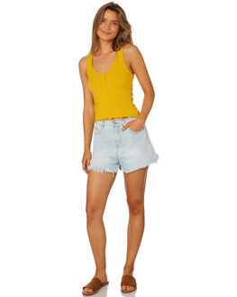 GOLD WOMENS CLOTHING ALL ABOUT EVE SINGLETS - 6426020YLW