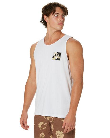 WHITE MENS CLOTHING RUSTY SINGLETS - TSM0497WHT