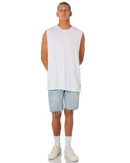 WHITE MENS CLOTHING HUFFER SINGLETS - MTA84J220.430WHT