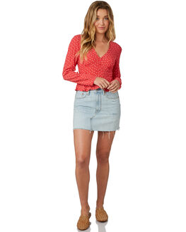 WASHED RED WOMENS CLOTHING THE FIFTH LABEL FASHION TOPS - 40181034-2WRED