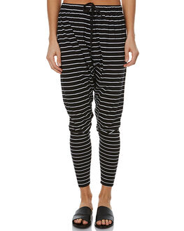 BLACK AND WHITE WOMENS CLOTHING THE FIFTH LABEL PANTS - TJ170509P-STBKWH