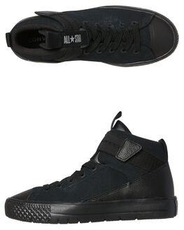 BLACK BLACK KIDS BOYS CONVERSE SNEAKERS - 661902BKBK