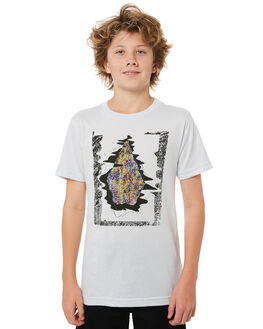 WHITE KIDS BOYS VOLCOM TEES - C5721805WHT