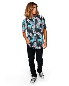 BLACK/MINT MENS CLOTHING BILLABONG SHIRTS - BB-9592202-BMI