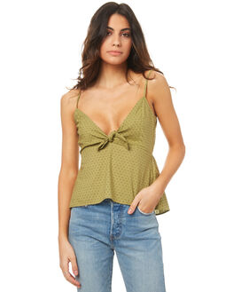 KHAKI WOMENS CLOTHING THE HIDDEN WAY FASHION TOPS - H8174167BKHAK
