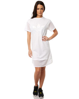 WHITE WOMENS CLOTHING ADIDAS ORIGINALS DRESSES - CE4133WHT