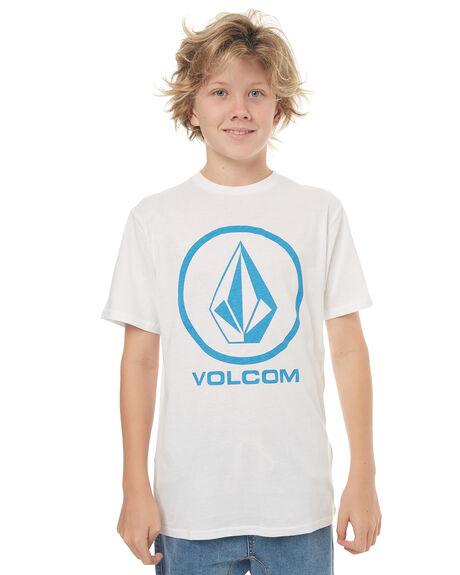 WHITE KIDS BOYS VOLCOM TOPS - C35117G6WHT