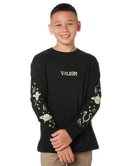 BLACK KIDS BOYS VOLCOM TOPS - C3612030BLK