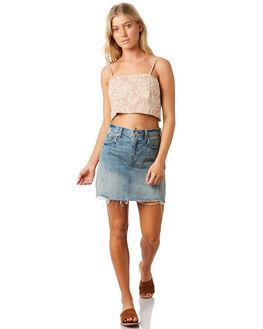DARK SAND WOMENS CLOTHING BILLABONG FASHION TOPS - 6581095DSND