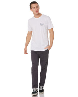 WHITE MENS CLOTHING STACEY TEES - STTEESQUWHT