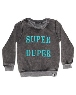 BLACK KIDS TODDLER BOYS LITTLE LORDS JUMPERS - LTLSUPERDUPBLK