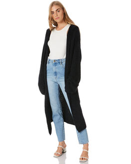 BLACK WOMENS CLOTHING ALL ABOUT EVE KNITS + CARDIGANS - 6454000BLK