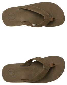 FADED ARMY MENS FOOTWEAR VOLCOM THONGS - V0811884FDR