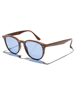 BROWN BLUE MENS ACCESSORIES RAY-BAN SUNGLASSES - 0RB4259BRNBL