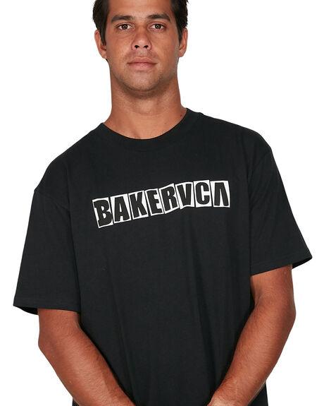 BLACK MENS CLOTHING RVCA TEES - RV-R106069-BLK