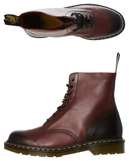 CHERRY RED WOMENS FOOTWEAR DR. MARTENS BOOTS - SS21154600CHERW