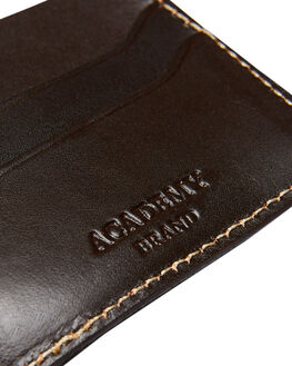 CHOCOLATE MENS ACCESSORIES ACADEMY BRAND WALLETS - 20S001CHO