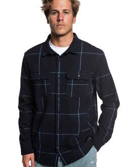 BLACK HAMA TRIP MENS CLOTHING QUIKSILVER SHIRTS - EQYWT03782-KVJ1