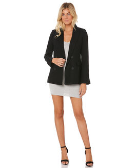BLACK WOMENS CLOTHING LULU AND ROSE JACKETS - LU23372BLK