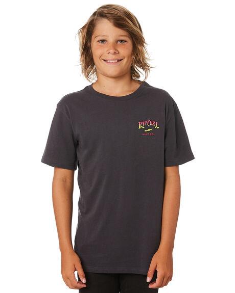 DARK GREY KIDS BOYS RIP CURL TOPS - KTEWX31221