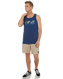 ESTATE BLUE MENS CLOTHING QUIKSILVER SINGLETS - EQYZT04672BSW0