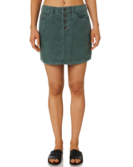 5986709ad4 Rusty Womens Truth Cord Skirt - Evergreen | SurfStitch