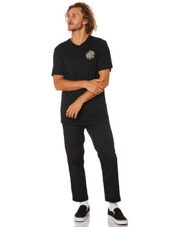 BLACK MENS CLOTHING SANTA CRUZ TEES - SC-MTB0607BLK