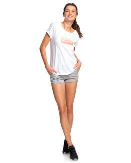 BRIGHT WHITE WOMENS CLOTHING ROXY TEES - ERJZT04686-WBB0