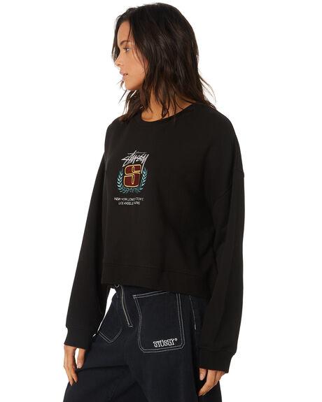 BLACK WOMENS CLOTHING STUSSY JUMPERS - ST197311BLACK