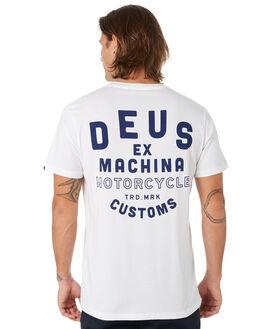 WHITE MENS CLOTHING DEUS EX MACHINA TEES - DMP91151DWHT