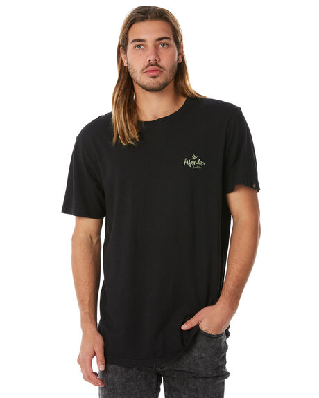 BLACK MENS CLOTHING AFENDS TEES - M183022BLK