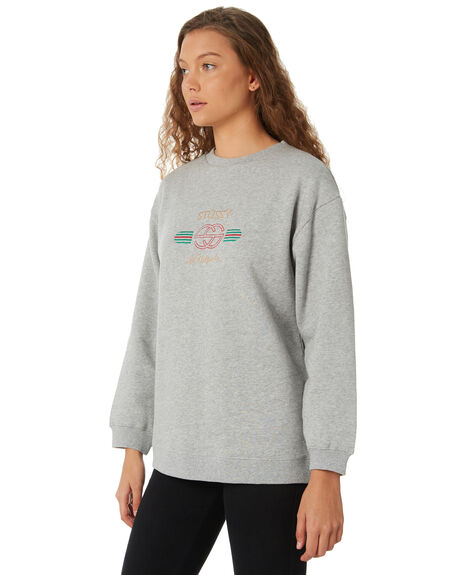 GREY MARLE OUTLET WOMENS STUSSY JUMPERS - ST186311GREYM