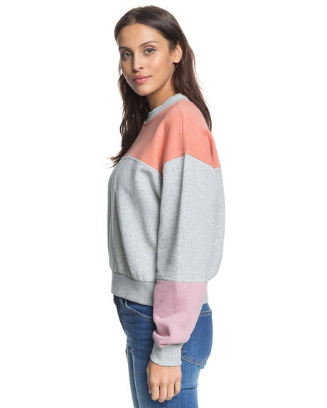 HERITAGE HEATHER WOMENS CLOTHING ROXY JUMPERS - ERJFT04233-SGRH