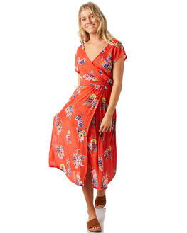 POPPY RED WOMENS CLOTHING BILLABONG DRESSES - 6581477POP