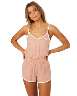 BLUSH WOMENS CLOTHING AFENDS PLAYSUITS + OVERALLS - 51-02-099BLUS