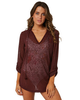 RUBY WINE WOMENS CLOTHING BILLABONG FASHION TOPS - 6571151RW2