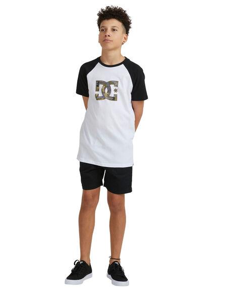 WHITE KIDS BOYS DC SHOES TOPS - UDBZT03320-WBB0