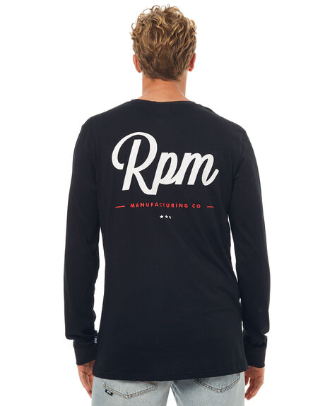 BLACK MENS CLOTHING RPM TEES - 7SMT15ABLK