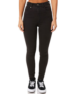 FADED BLACK WOMENS CLOTHING THRILLS JEANS - WTDP-404FBFBLK