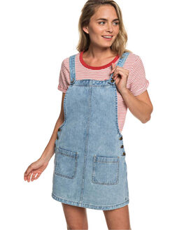 RETRO LIGHT BLUE WOMENS CLOTHING ROXY PLAYSUITS + OVERALLS - ERJWD03319-BDV0