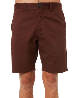BORDEAUX BROWN MENS CLOTHING VOLCOM SHORTS - A0931602BXB