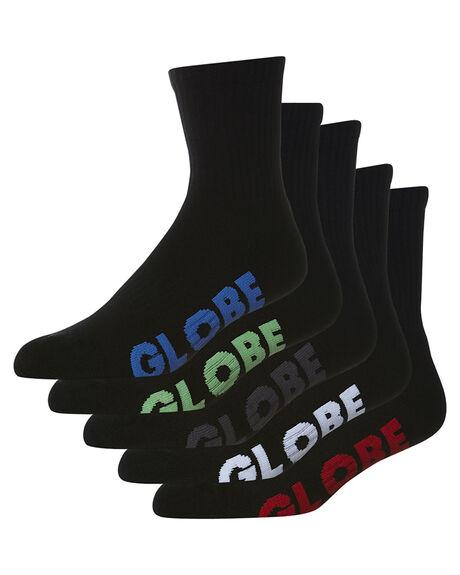 BLACK MENS CLOTHING GLOBE SOCKS + UNDERWEAR - GB71219027BLK