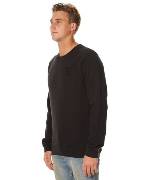 WASHED BLACK MENS CLOTHING SWELL JUMPERS - S5174443WBLK