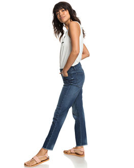 DARK BLUE WOMENS CLOTHING ROXY JEANS - ERJDP03208-BTN0