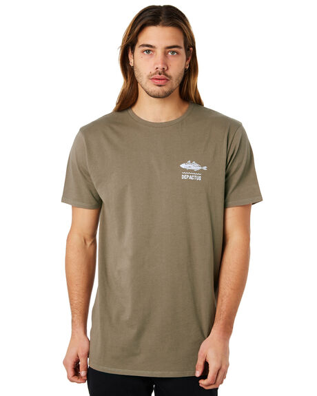 WASHED OLIVE MENS CLOTHING DEPACTUS TEES - D5171002WSHOL