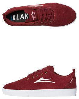 BURGUNDY MENS FOOTWEAR LAKAI SKATE SHOES - MS2180249ABUR