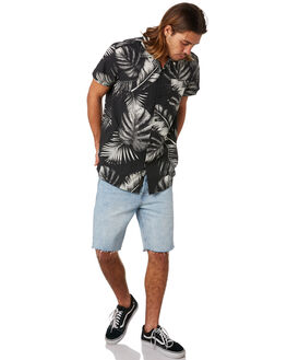 GREYSCALE PALMS MENS CLOTHING DEUS EX MACHINA SHIRTS - DMS85655GRYPA