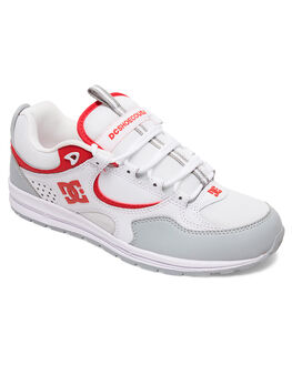 WHITE/GREY/RED MENS FOOTWEAR DC SHOES SNEAKERS - ADYS100291-WYR