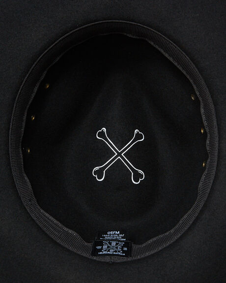 BLACK MENS ACCESSORIES BILLY BONES CLUB HEADWEAR - BBCFED006BLK